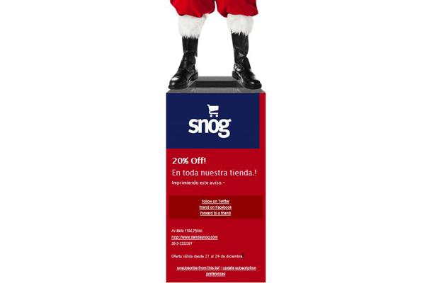 SNOG: venta especial